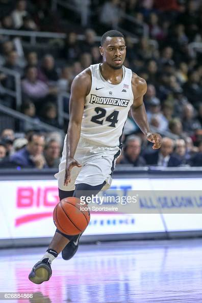Kyron Cartwright for Providence College drives to the basket during the game between the Providence College Friars and the University of New...