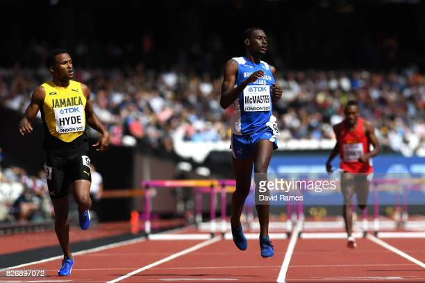 Kyron McMaster of Virgin Islands British competes in the Men's 400 metres hurdles during day three of the 16th IAAF World Athletics Championships...
