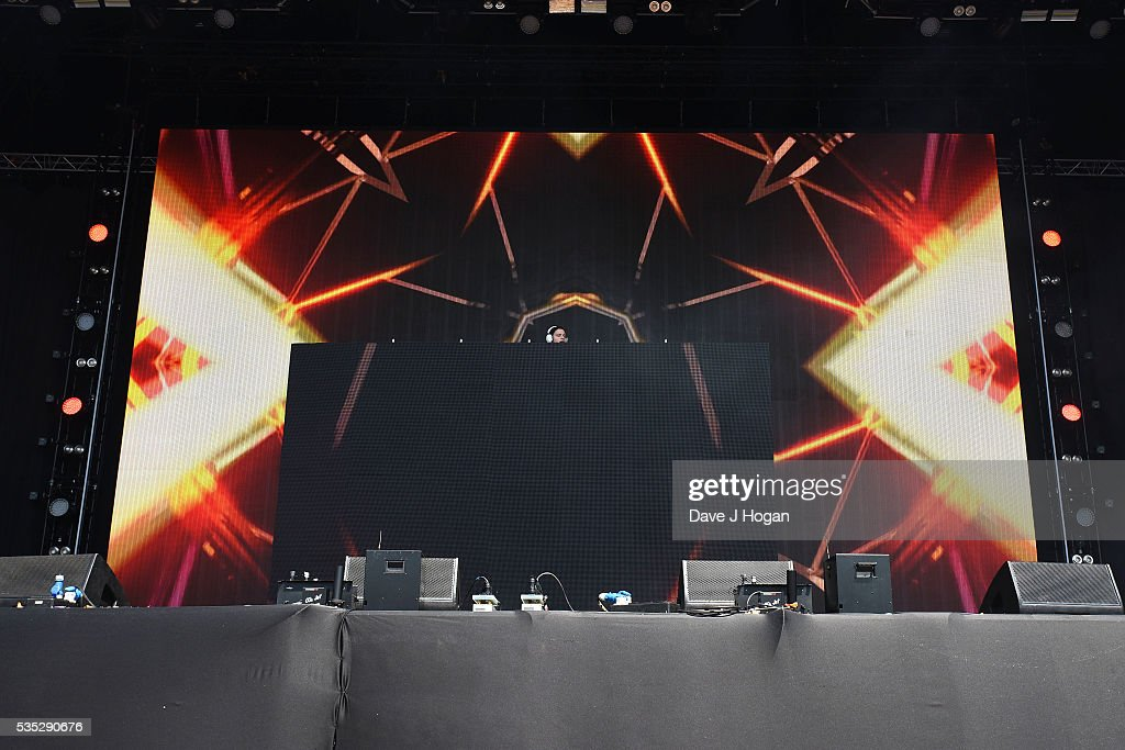 Kyrre Gorvell-Dahll a.k.a. <a gi-track='captionPersonalityLinkClicked' href=/galleries/search?phrase=Kygo+-+DJ&family=editorial&specificpeople=10210572 ng-click='$event.stopPropagation()'>Kygo</a> performs during day 2 of BBC Radio 1's Big Weekend at Powderham Castle on May 29, 2016 in Exeter, England.