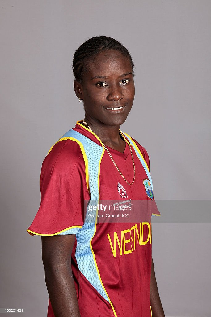 Kyshona Knight of West Indies poses at a portrait session ahead of the ICC Womens World Cup 2013 at the Taj Mahal Palace Hotel on January 27, 2013 in Mumbai, India.