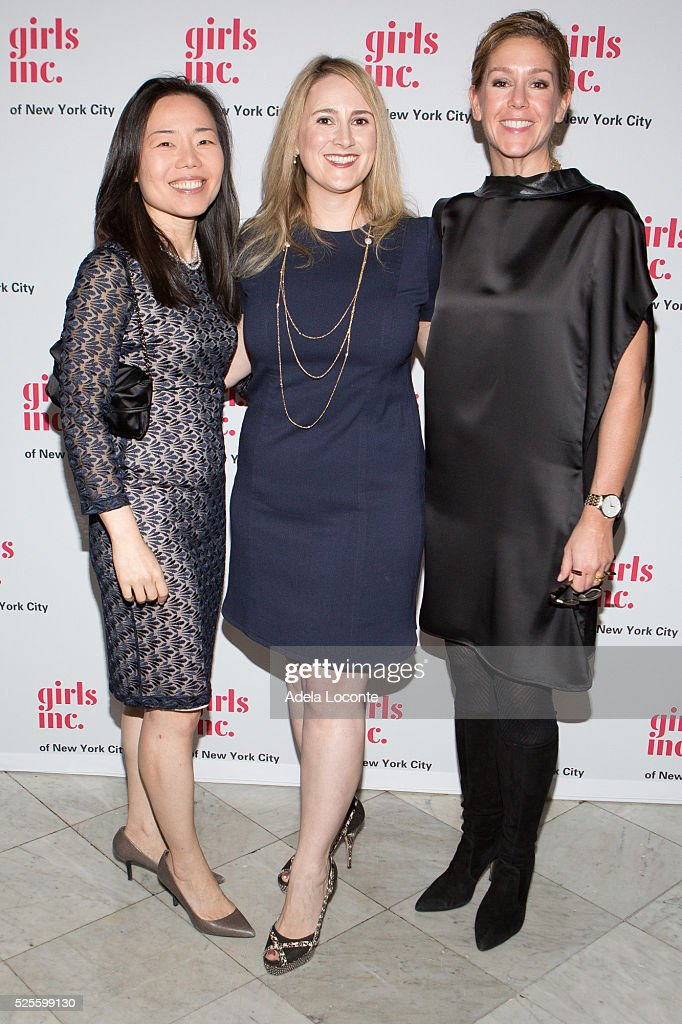 Kyung-ah Park, Elaine Ball, and Courtney Adante attend '2016 Girls Inc Spring Luncheon' at The Metropolitan Club on April 28, 2016 in New York City.