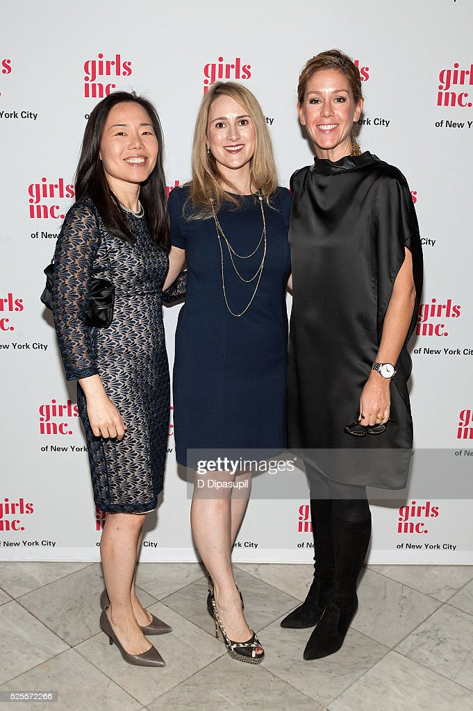 Kyung-Ah Park, Elaine Ball, and Courtney Adante attend the 2016 Girls Inc Spring Luncheon at The Metropolitan Club on April 28, 2016 in New York City.