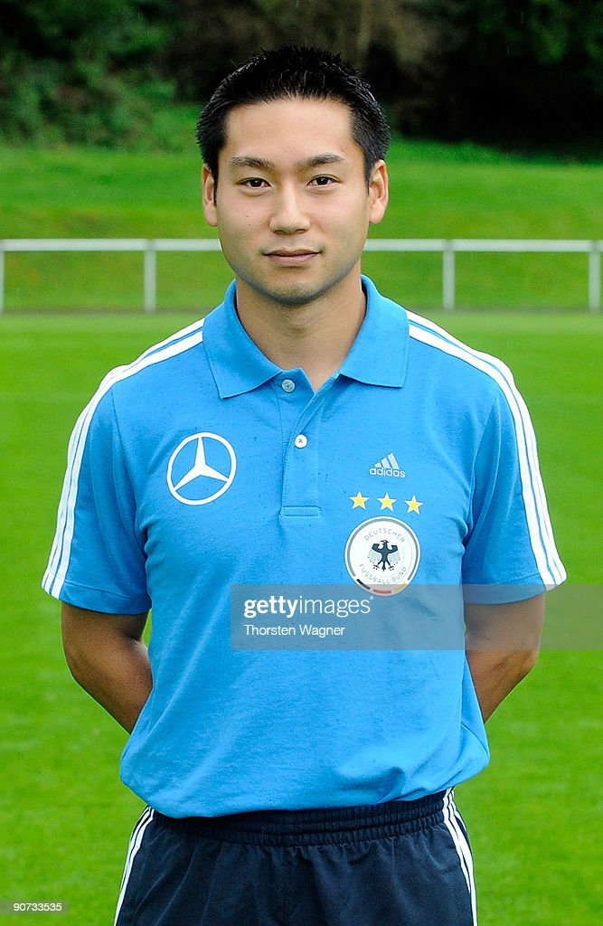 Kyung-Yiub Lee, team-manager poses during the U17 Germany team presentation at the Sportschule on September 14, 2009 in Hennef, Germany.