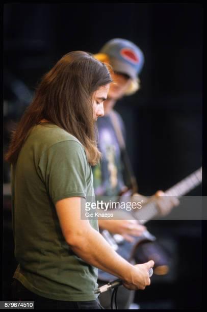 Kyuss John Garcia Josh Homme performing on stage Pukkelpop Festival Hasselt 26th August 1995