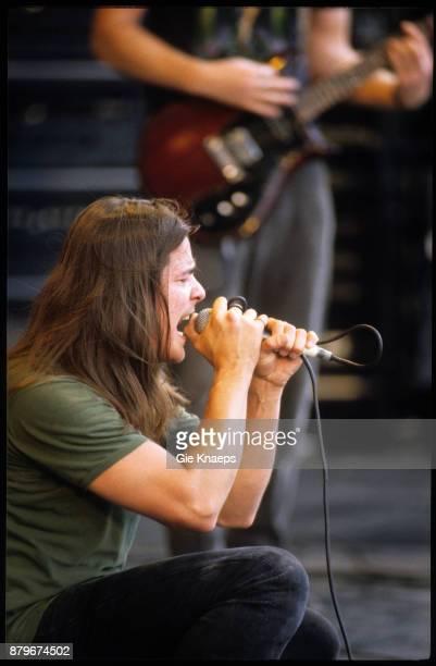 Kyuss John Garcia performing on stage Pukkelpop Festival Hasselt 26th August 1995