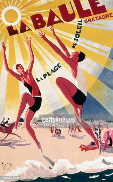 La Baule Bretagne La Plage du Soleil Poster by Lauro