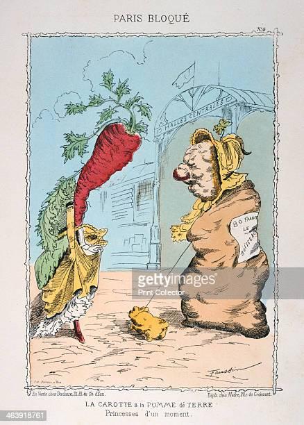 La Carotte et la Pomme de Terre' 18701871 Cartoon depicting a scene during the Prussian Siege of Paris in the FrancoPrussian War After the disastrous...