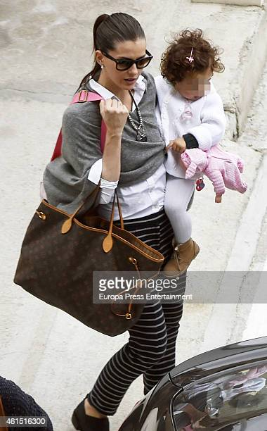'La China' Suarez and her daughter Rufina Cabre are seen on December 28 2014 in Madrid Spain