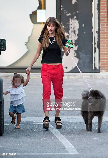 'La China' Suarez and her daughter Rufina Cabre are seen on May 11 2015 in Madrid Spain