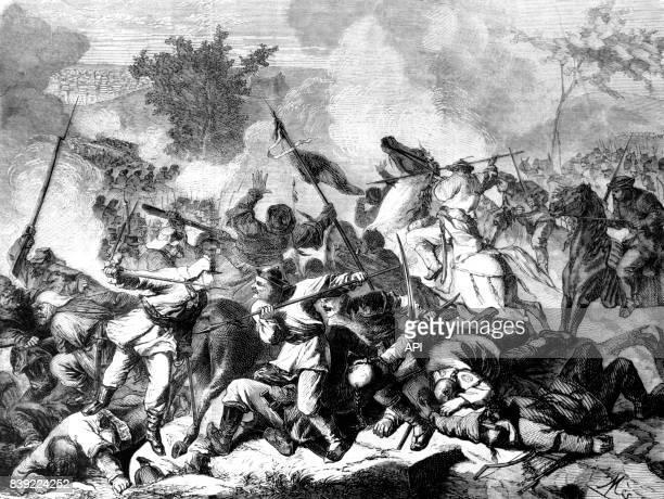 La compagnie du 101è de ligne de l'armée français pendant la bataille de Palikao en Chine