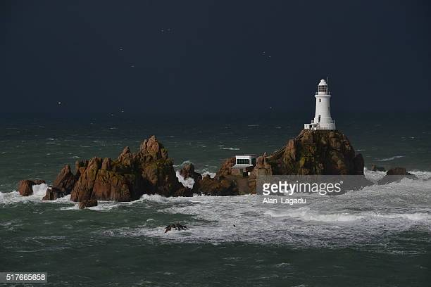 La Corbiere lighthouse, Jersey, U.K.