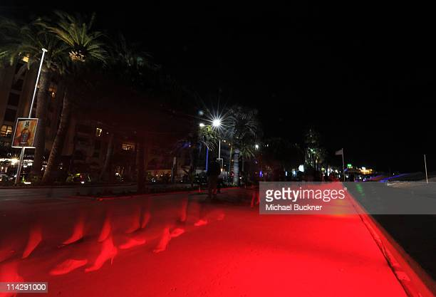 La Croisette at night during the 64th Cannes Film Festival on May 17 2011 in Cannes France