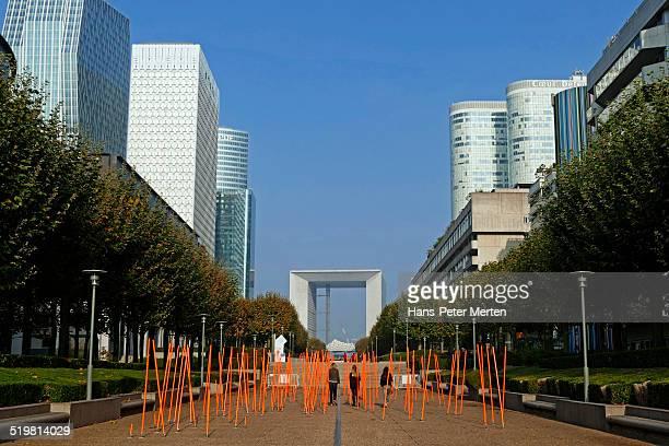 La Defense and Grand Arche, Paris, France