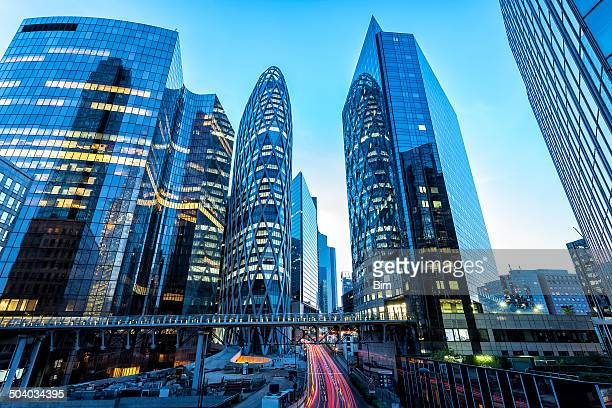 La Defense Financial District at Dusk, Paris