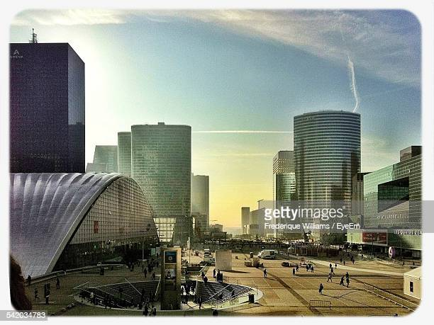 La Defense In Evening Sunlight
