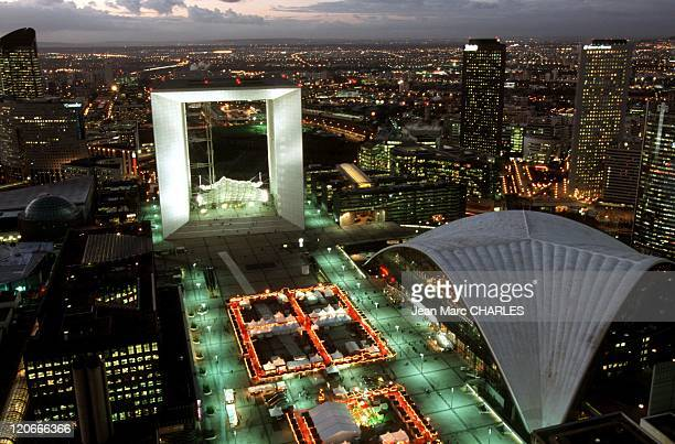 La Defense in Paris France The Grande Arche the Great Arch designed by the danish architect Otto von Spreckelsen The CNIT La Defense business sector