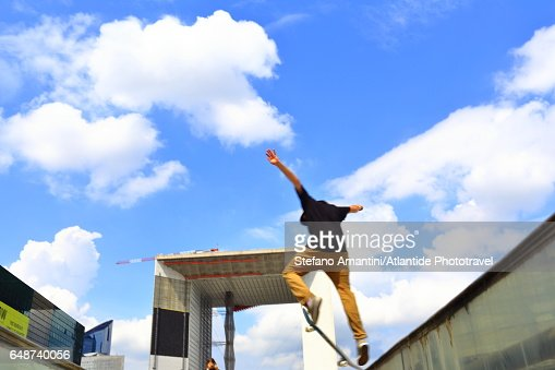 La Defense, skateboarding : Foto stock
