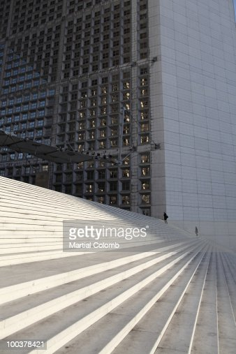 La Défense;the big arch : Stock Photo