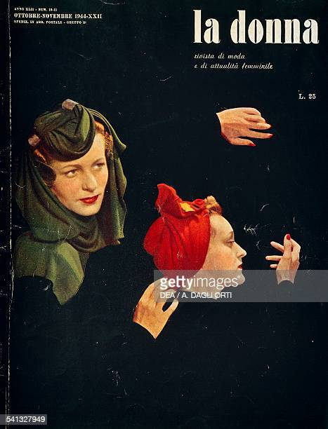 La Donna women's fashion and lifestyle magazine OctoberNovember cover Italy 20th century