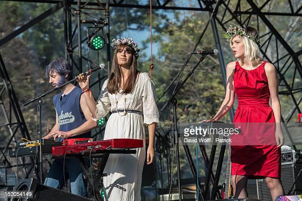 La Femme performs at We Love Green Festival at Parc de Bagatelle on September 15 2012 in Paris France