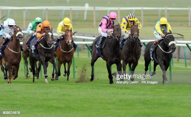 La Fortunata ridden by Andrea Atzeni goes on to win the EBF Oasis Dream Foillies Handicap Stakes during The Cambridgeshire Meeting at Newmarket...