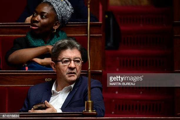 La France Insoumise Leader JeanLuc Melenchon attends a session of questions to the government at the National Assembly in Paris on November 15 2017 /...