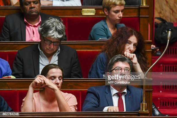 La France Insoumise leftist party's leader and parliamentary group president JeanLuc Melenchon attends a session of Questions to the Governement on...