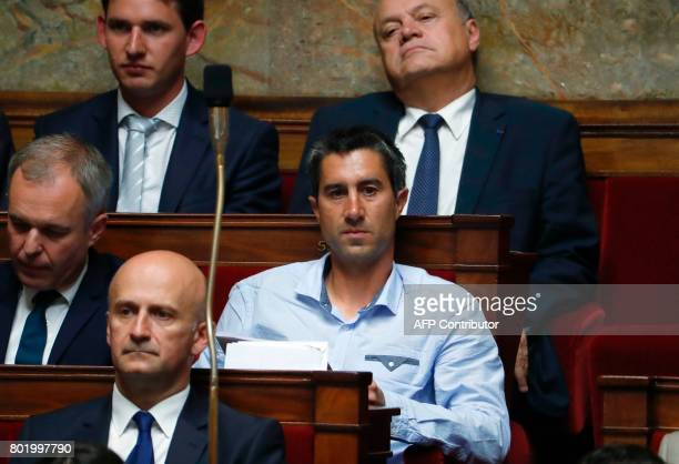 La France Insoumise leftist party's Member of Parliament Francois Ruffin attends the inaugural session of the 15th legislature of the French Fifth...