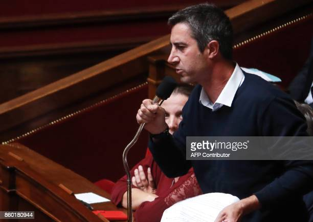 La France Insoumise member for Somme Francois Ruffin speaks during a session of questions to the government at the French National Assembly in Paris...