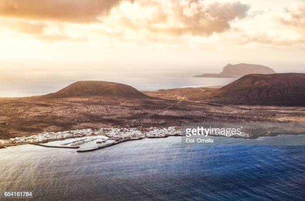 la graciosa archipielago chinijo lanzarote aerial view