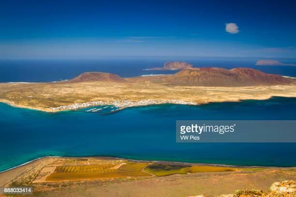 La Graciosa island from Mirador del Rio Chinijo Archipelago Lanzarote Canary Islands Atlantic Ocean Spain