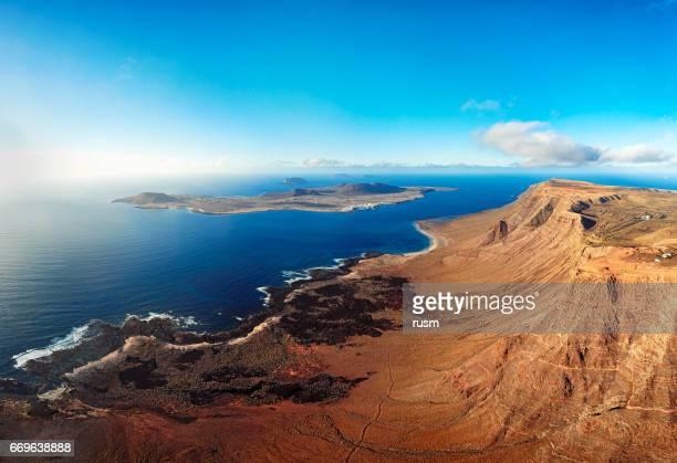 La Graciosa Insel Panorama, Lanzarote, Kanarische Inseln