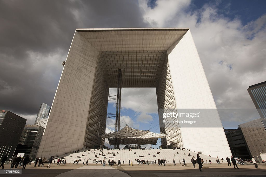 La Grande Arche de la Defense, Paris, France : Stock Photo