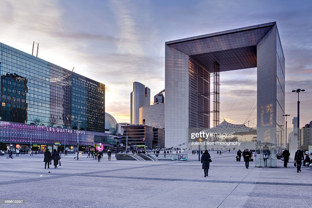 La Grande Arche in the La Defense district.