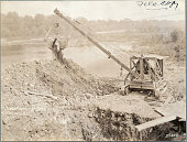 The Bear Cat is an effective digger as shown in this job at La Grange