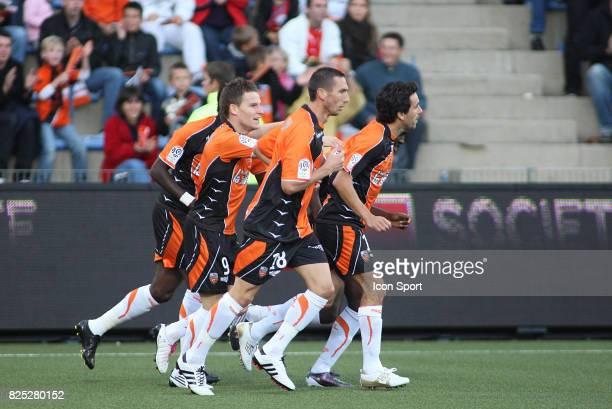 La joie de Kevin GAMEIRO Lorient / Monaco 7eme journee de Ligue 1