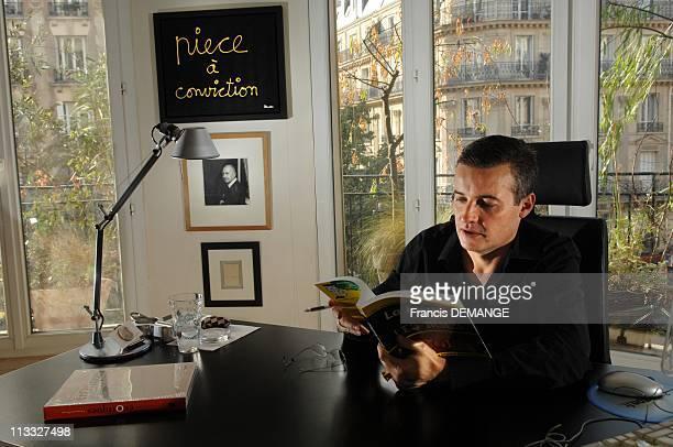'La Justice Pour Les Nuls' According To The Lawyer Emmanuel Pierrat In Paris France On October 22 2007 Emmanuel Pierrat lawyer at the court in his...