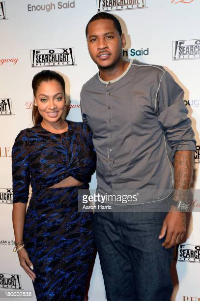 La La and Carmelo Anthony attend the Fox Searchlight TIFF party during the 2013 Toronto International Film Festival at Spice Route on September 7...