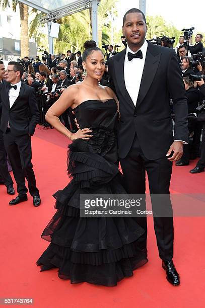 La La Anthony and Carmelo Anthony attend the 'Loving' premiere during the 69th annual Cannes Film Festival at the Palais des Festivals on May 16 2016...