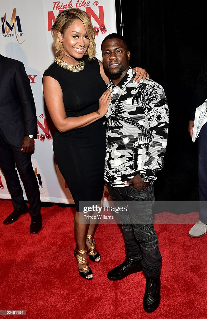 La La Anthony and Kevin Hart attend the 'Think Like A Man Too' premiere at Regal Cinemas Atlantic Station Stadium 16 on June 11, 2014 in Atlanta, Georgia.