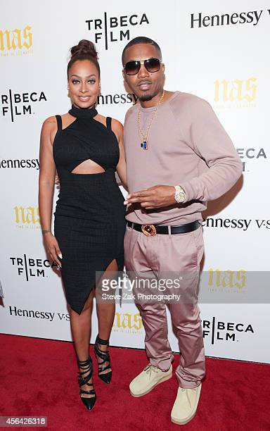 La La Anthony and Nas attend 'Nas Time Is Illmatic' New York Premiereat Museum of Modern Art on September 30 2014 in New York City