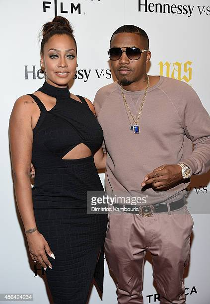 La La Anthony and Nas attend the 'Nas Time Is Illmatic' New York Premiere at Museum of Modern Art on September 30 2014 in New York City