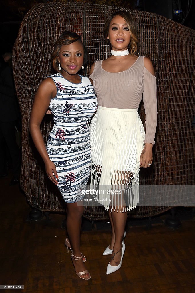 La La Anthony and Naturi Naughton attend the after party for the New York premiere of 'The Girlfriend Experience' at Nobu 57 on March 30 2016 in New...