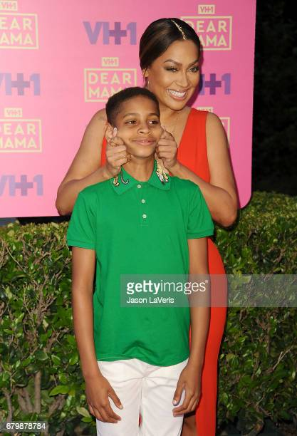 La La Anthony and son Kiyan Carmelo Anthony attends VH1's 2nd annual 'Dear Mama An Event to Honor Moms' on May 6 2017 in Pasadena California