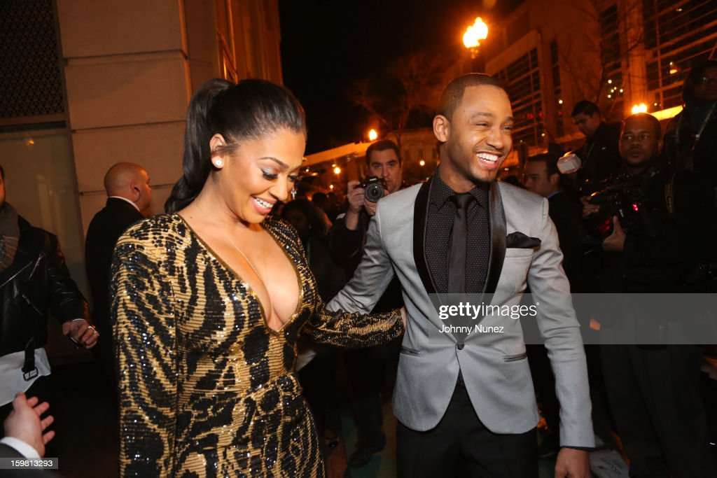 <a gi-track='captionPersonalityLinkClicked' href=/galleries/search?phrase=La+La+Anthony&family=editorial&specificpeople=209433 ng-click='$event.stopPropagation()'>La La Anthony</a> and <a gi-track='captionPersonalityLinkClicked' href=/galleries/search?phrase=Terrence+J&family=editorial&specificpeople=4419581 ng-click='$event.stopPropagation()'>Terrence J</a> attend The Hip-Hop Inaugural Ball II at Harman Center for the Arts on January 20, 2013 in Washington, DC.