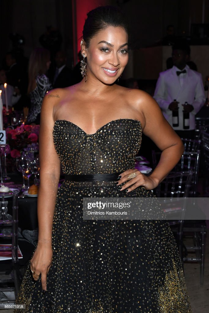 La La Anthony arrives at Gabrielle's Angel Foundation's Angel Ball 2017 at Cipriani Wall Street on October 23, 2017 in New York City.