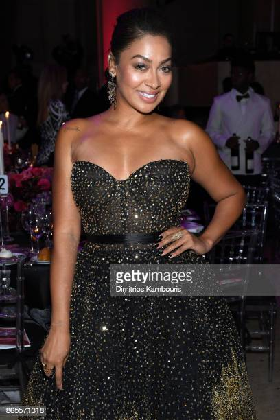 La La Anthony arrives at Gabrielle's Angel Foundation's Angel Ball 2017 at Cipriani Wall Street on October 23 2017 in New York City