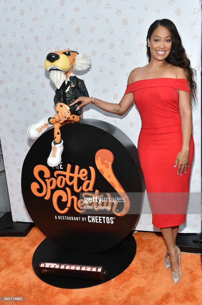 La La Anthony attends as The Spotted Cheetah opens in New York City with celebrity chef Anne Burrell, serving up a limited-time Cheetos-infused culinary experience on August 15, 2017 in New York City.