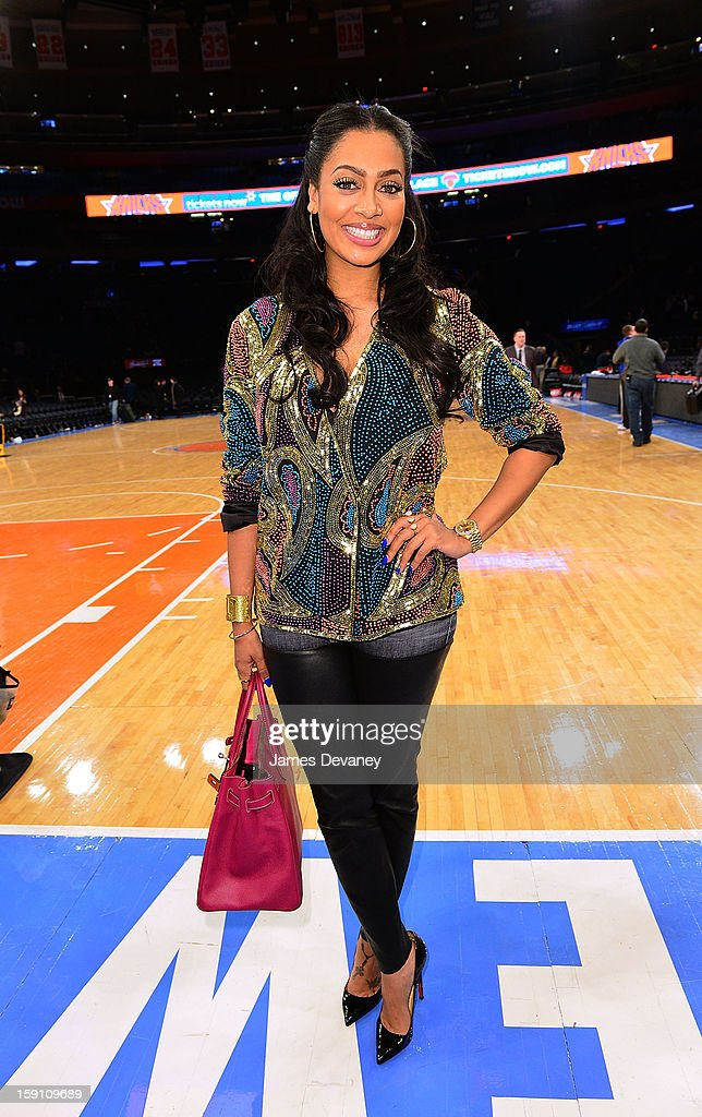 La La Anthony attends the Boston Celtics vs New York Knicks game at Madison Square Garden on January 7, 2013 in New York City.