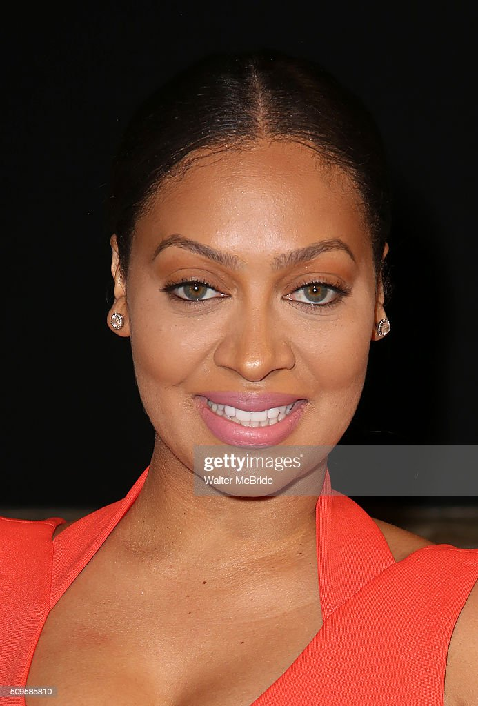 La La Anthony attends the meet and greet the all-female cast and creative team and launch of the 10,000 girls initiative of Broadway's 'Eclipsed' at the Golden Theatre on February 11, 2016 in New York City.